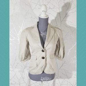 BCBG Maxazria Beige 2 Button 'Nancy' Blazer Jacket